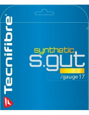 TECNIFIBRE SYNTHETIC GUT Yellow 1.25 12m